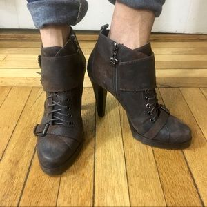 Brown Leather Bootie